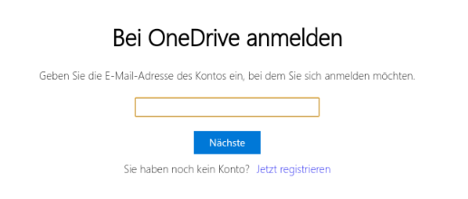 AutoSync for OneDrive unter Chrome OS: Bei OneDrive anmelden